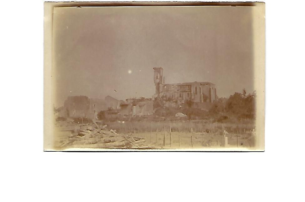 Photos du front 5- Ruines de l'église de Flirey