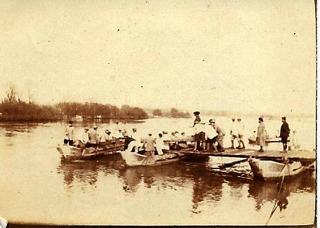 Front 1ère partie : un pont de bateaux sur la Moselle – lettre du 7 mars 1916